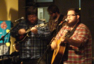 Nathan (red plaid) and the Attic Wolves