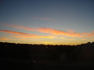 Sunrise from our Balcony in Overland Park, Kansas