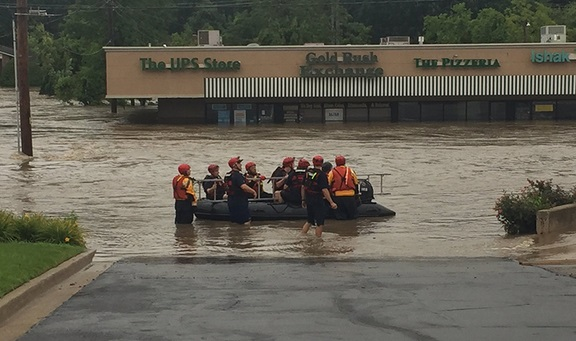 Flash flood rescue